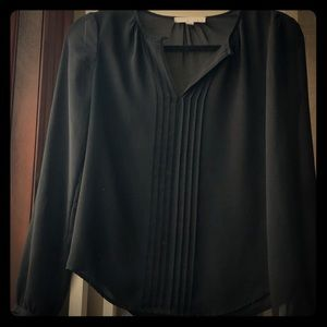 Banana Republic - Black pleated accent blouse.